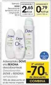 Oferta de DOVE Desodorante femenino roll on Original 0%, 50 ml por 2,65€