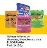 Oferta de Galletas rellenas de chocolate, limón, fresa o nata ELGORRIAGA por 0,9€