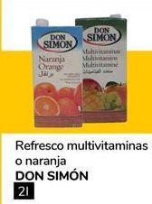 Oferta de Refresco multivitaminas o naranja DON SIMÓN por 0,9€