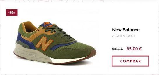 Oferta de Zapatillas New Balance por 65€