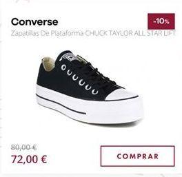 Oferta de Zapatillas Converse por 72€