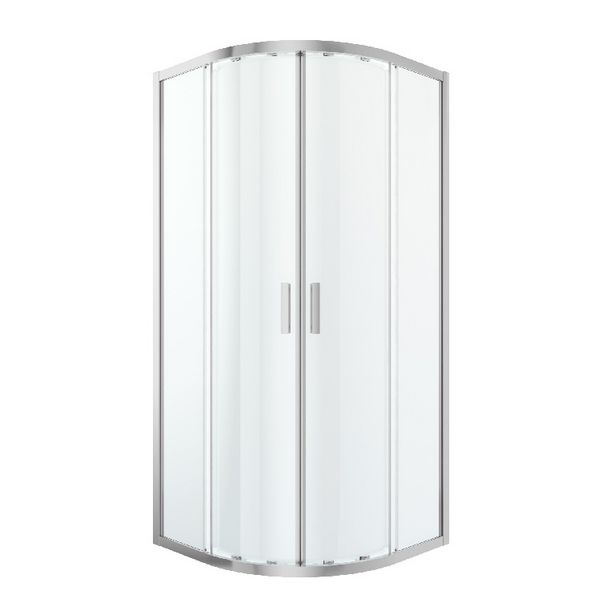 Oferta de Mampara Semicircular Transparente 195x90x90cm Beloya por 159€