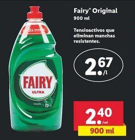Oferta de Detergente lavavajillas Fairy por 2,4€