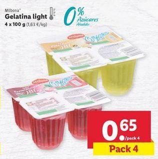 Oferta de Gelatina Milbona por 0,65€