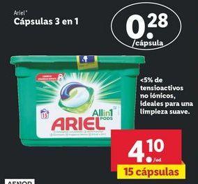 Oferta de Detergente en cápsulas Ariel por 4,1€