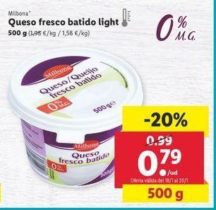Oferta de Queso fresco Milbona por 0,79€