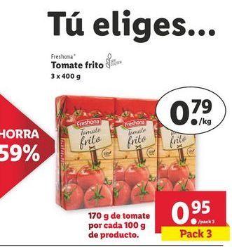 Oferta de Tomate frito Freshona por 0,95€