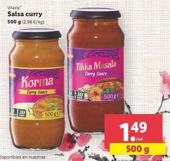 Oferta de Salsa curry Vitasia por 1,49€