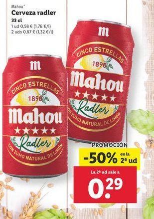 Oferta de Cerveza Mahou por 0,58€