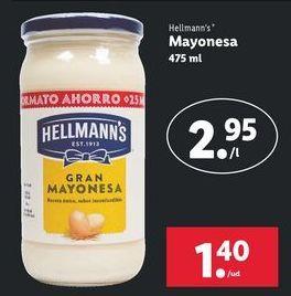 Oferta de Mayonesa Hellmann's por 1,4€
