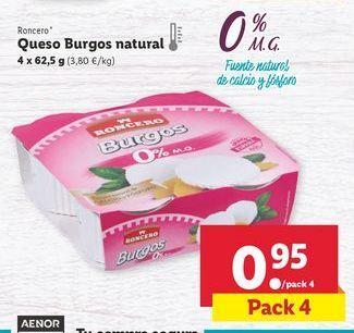 Oferta de Queso fresco Roncero por 0,95€