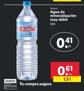 Oferta de Agua Bezoya por 0,61€