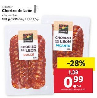 Oferta de Chorizo Realvalle por 0,99€