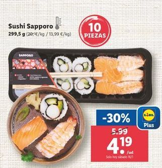 Oferta de Sushi por 4,19€