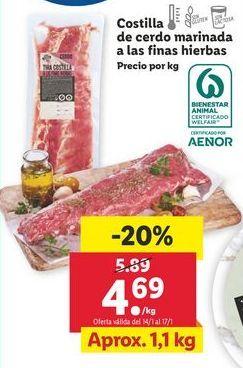 Oferta de Costillas de cerdo adobadas por 4,69€