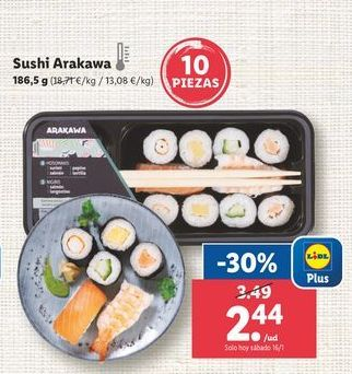 Oferta de Sushi por 2,44€