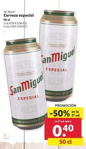 Oferta de Cerveza San Miguel por 0,79€