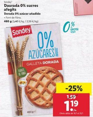 Oferta de Galletas sondey por 1,19€
