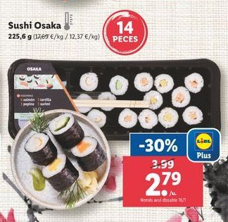 Oferta de Sushi por 2,79€
