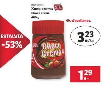 Oferta de Crema de cacao Mister Choc por 1,29€