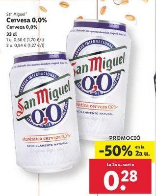Oferta de Cerveza San Miguel por 0,56€