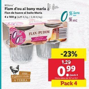 Oferta de Flan Milbona por 0,99€