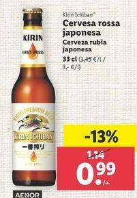 Oferta de Cerveza rubia Kirin ichiban por 0,99€