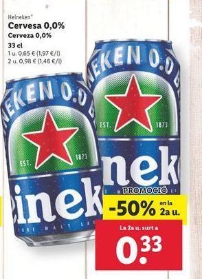 Oferta de Cerveza por 0,65€