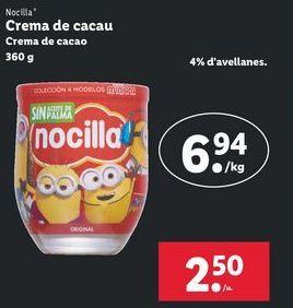 Oferta de Crema de cacao Nocilla por 2,5€