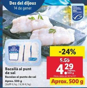 Oferta de Bacalao por 4,29€