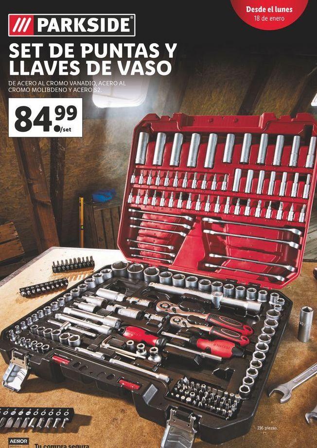Oferta de Llaves Parkside por 84,99€