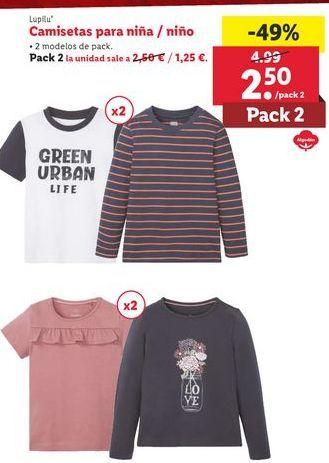 Oferta de Camiseta Lupilu por 2,5€