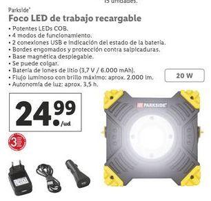 Oferta de Foco led Parkside por 24,99€