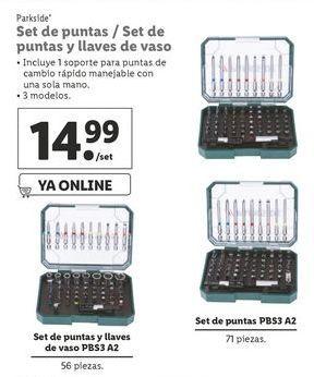 Oferta de Puntas de atornillador Parkside por 14,99€