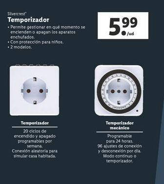 Oferta de Temporizador SilverCrest por 5,99€