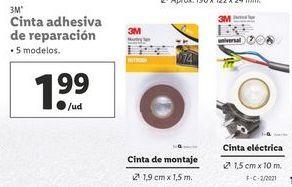 Oferta de Cinta adhesiva 3m por 1,99€