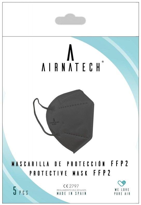 Oferta de PACK 5 mascarillas FFP2 NR negras por 9,5€