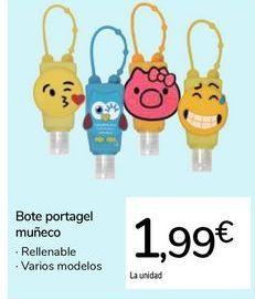 Oferta de Bote portagel muñeco por 1,99€