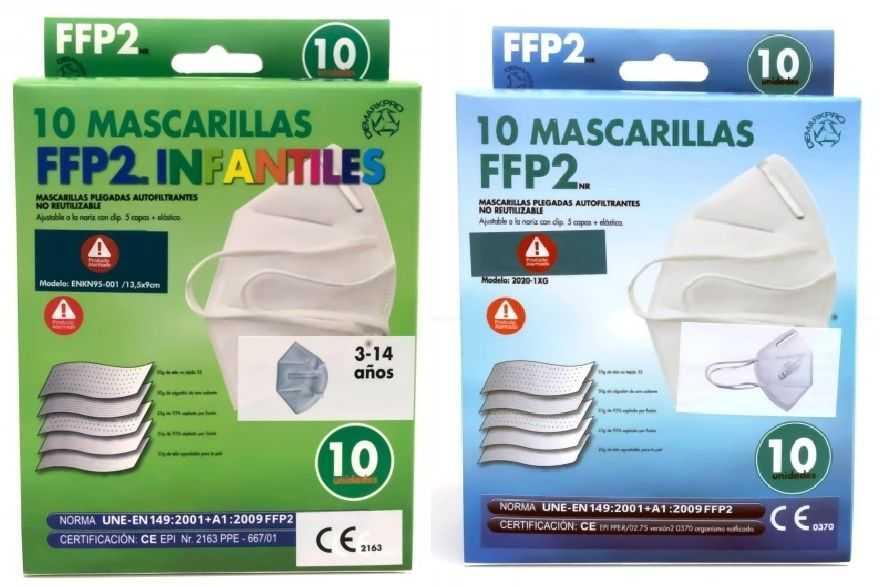 Oferta de PACK 10 mascarillas FFP2 NR por 14,95€