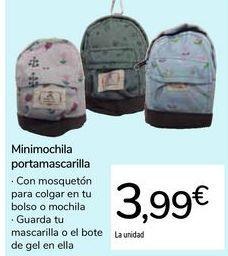 Oferta de Minimochila portamascarilla por 3,99€