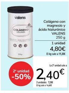 Oferta de Colágeno con magnesio y ácido hialurónico VALENS por 4,8€