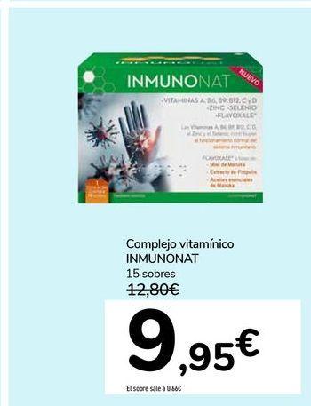 Oferta de Complejo vitamínico INMUNONAT por 9,95€
