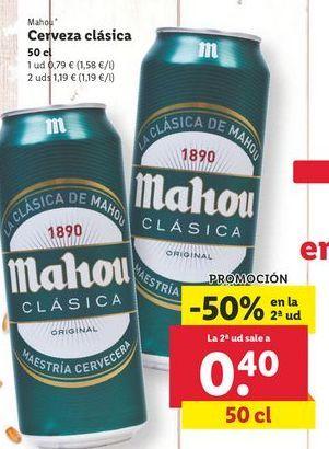 Oferta de Cerveza Mahou por 0,79€