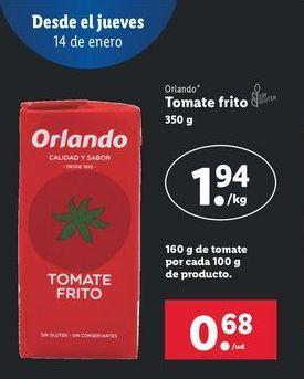 Oferta de Tomate frito Orlando por 1,94€