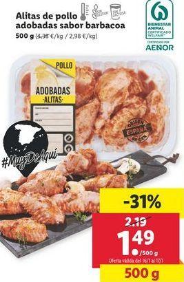 Oferta de Alas de pollo barbacoa por 1,49€