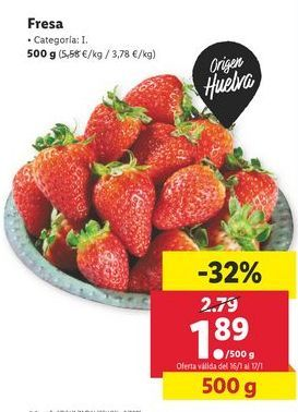 Oferta de Fresas por 1,89€