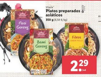Oferta de Platos preparados Vitasia por 2,29€
