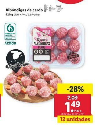 Oferta de Albóndigas por 1,49€