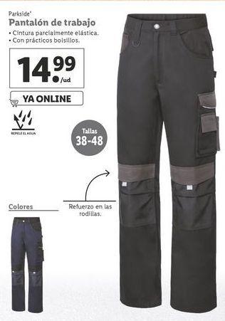 Oferta de Pantalones de trabajo Parkside por 14,99€