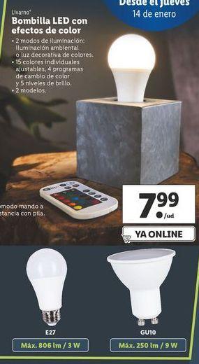 Oferta de Bombilla led Livarno por 7,99€